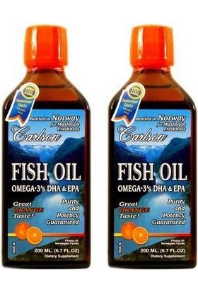 Carlson Fish Oil Omega 3 Balık Yağı Şurubu Portakal Aromalı 200 Ml (2'Li)