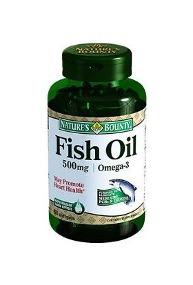 Nature'S Bounty Fish Oil 500 Mg Omega 3 60 Softgel