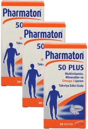 Pharmaton 50 Plus 3 Lü Paket 30 Kapsül