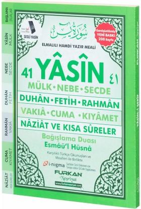 Furkan Neşriyat 208 Çanta Boy Sayfa Karşılıklı 41 Yasin Türkçeli (Yeşil)