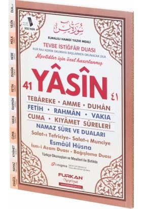 Furkan Neşriyat 80 Sayfa Orta Boy Karşılıklı Türkçeli Yasin-i Şerif (Kahverengi)