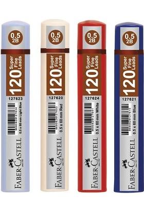 Faber Castell 120'li Kalem Ucu 0.5 Koyu Kırmızı Kutu Rengi