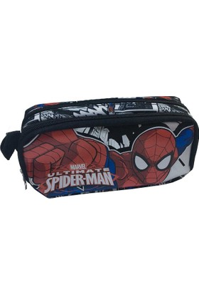 Spider Man Lisanslı Kalem Çantası Çift Gözlü (Kalemlik)87747