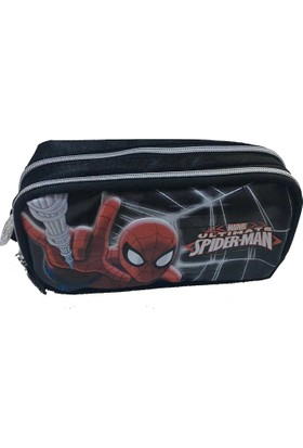Spider Man Lisanslı Kalem Çantası Çift Gözlü (Kalemlik)87743