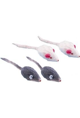 Nobby Çıngıraklı Kedi Oyuncağı Peluş 4'lü Fare 5 cm.
