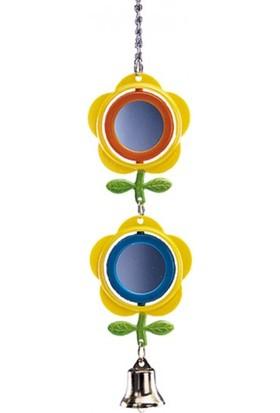 Nobby Aynalı ve Zilli Yaprak ve Çiçek Süslemeli Kuş Oyuncağı 28 cm