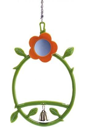 Nobby Aynalı ve Zilli Yaprak Süslemeli Kuş Salıncağı 17 cm
