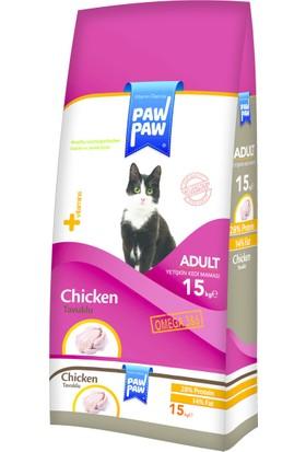 Paw Paw Tavuk Etli Yetişkin Kedi Maması 15 Kg