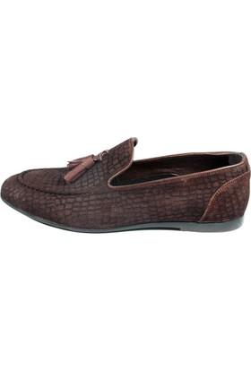 Pablo 217-050 Kahverengi Kroko Nubuk Erkek Ayakkabı