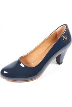 Ella 255-91 Lacivert Rugan Kadın Topuklu Ayakkabı