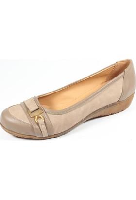Ella 255-11 Kum Kadın Topuklu Ayakkabı