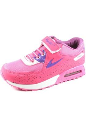 Feybıl Fuşya Mor Kız Çocuk Spor Ayakkabı