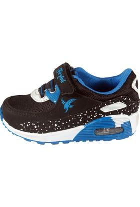 Feybıl 640 Bebek Anorak Siyah Saks Mavi Erkek Ayakkabısı