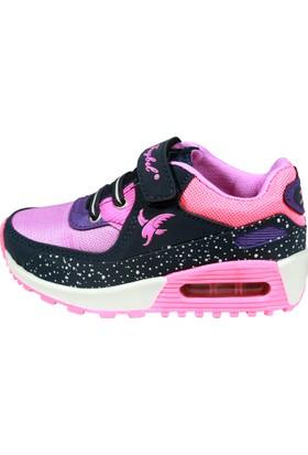 Feybıl 640 Anorak Lacivert Lila Fuşya Kız Ayakkabısı