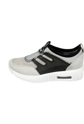 Feybıl 905 A.Gri Siyah Çocuk Erkek Ayakkabısı