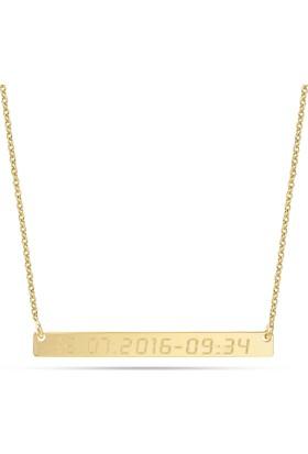 Goldstore 14 Ayar Altın İsimli Plaka Kolye Pnj40673