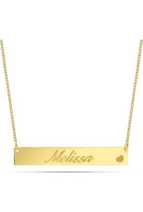 Goldstore 14 Ayar Altın İsimli Plaka Kolye Pnj40686