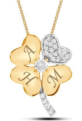 Goldstore Altın Şanslı Ailem Yonca Kolye Gp41650