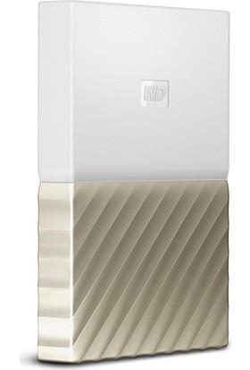 """WD My Passport Ultra 1TB 2.5"""" USB 3.0 Beyaz/Altın Taşınabilir Disk WDBTLG0010BGD"""