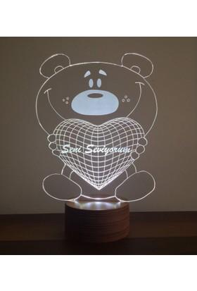 By-Lamp 3 Boyutlu Ayıcık Lamba