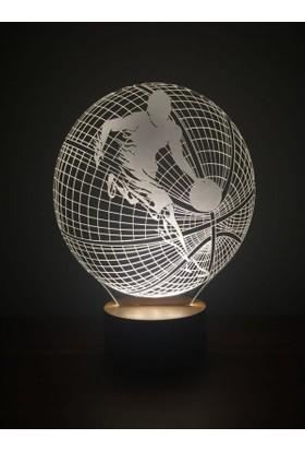 By-Lamp 3 Boyutlu Basketbol Topu Lamba