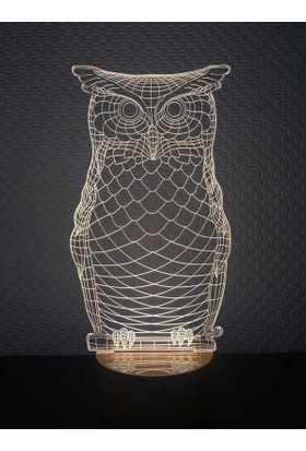 By-Lamp 3 Boyutlu Baykuş Lamba