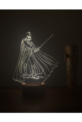 By-Lamp 3 Boyutlu Darth Vader Lamba Yeni