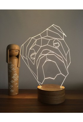 By-Lamp 3 Boyutlu Dog Lamba