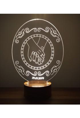 By-Lamp 3 Boyutlu El Ele Lamba