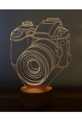 By-Lamp 3 Boyutlu Fotoğraf Makinesi Lamba