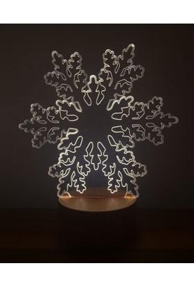 By-Lamp 3 Boyutlu Kar Tanesi Lamba