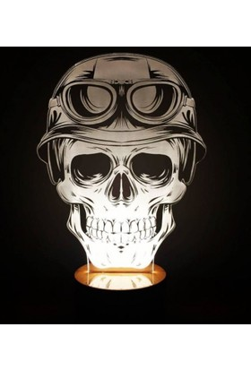 By-Lamp 3 Boyutlu Kurukafa Ve Motor Lamba