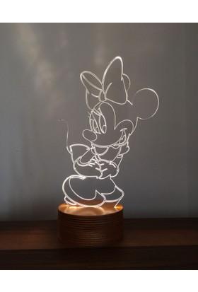 By-Lamp 3 Boyutlu Minnie Mouse
