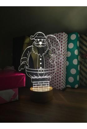 By-Lamp 3 Boyutlu Noel Baba Baca Lamba