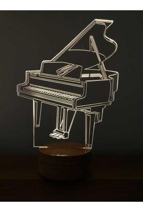 By-Lamp 3 Boyutlu Piyano Lamba