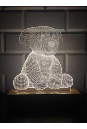By-Lamp 3 Boyutlu Sevimli Köpek Lamba