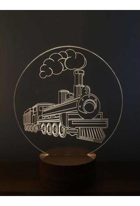 By-Lamp 3 Boyutlu Tren Lamba