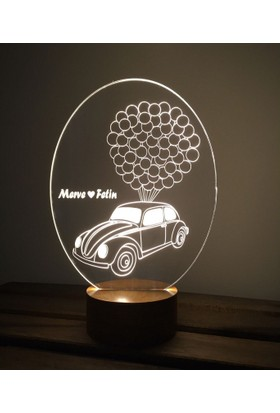 By-Lamp 3 Boyutlu Vosvos Balon Lamba