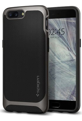 Spigen OnePlus 5 Kılıf Neo Hybrid Gunmetal - K04CS21515