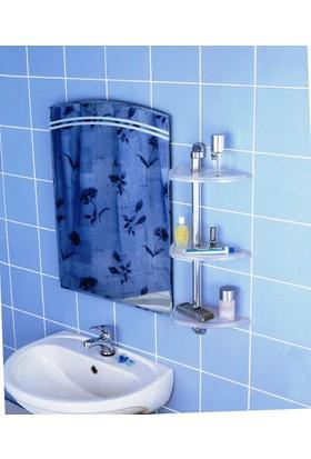Primanova Futura Banyo Raf Seti Şeffaf Naturel