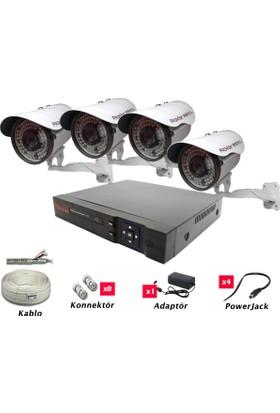 Promise Ahd 2.0 Megapikel 4 Kameralı Kamera Seti