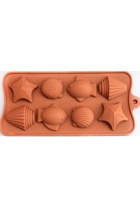 Aksh Silikon Deniz Canlıları Çikolata Kalıbı (1260) - 8'Lı
