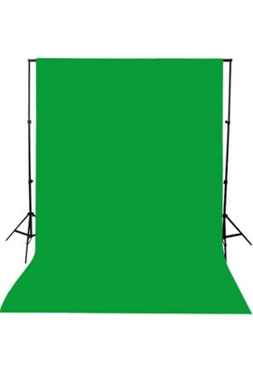 Greenbox Chromakey-Green Screen Yeşil Fon Perde (3X6M) + Fon Standı
