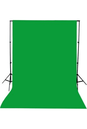 Chromakey-Green Screen-Greenbox- Yeşil Fon Perde (3X3M) +Fon Standı