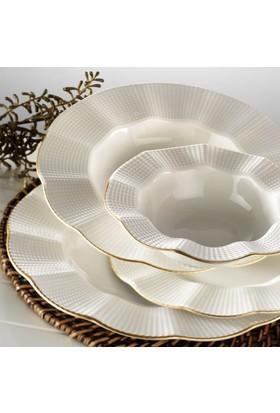 Kütahya Porselen Milenda 83 Parça 12 Kişilik Yemek Takımı
