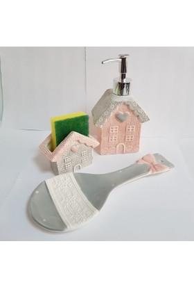 Acar Porselen Ev Model Mutfak Seti 3'lü