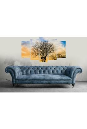 7Renk Dekorr Ağaç Manzara Dekoratif 5 Parça Mdf Tablo
