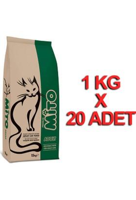 Mito Adult Yetişkin Kedi Maması 1 Kg X 20 Adet
