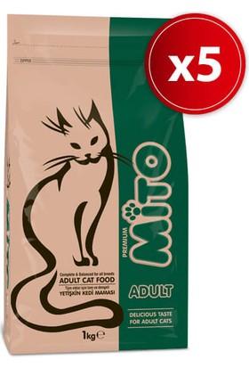 Mito Adult Yetişkin Kedi Maması 1 Kg X 5 Adet