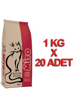 Mito Mix Yetişkin Kedi Maması 1 Kg X 20 Adet